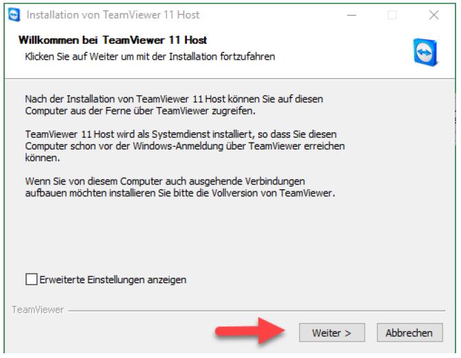 TeamViewer 11 Installation