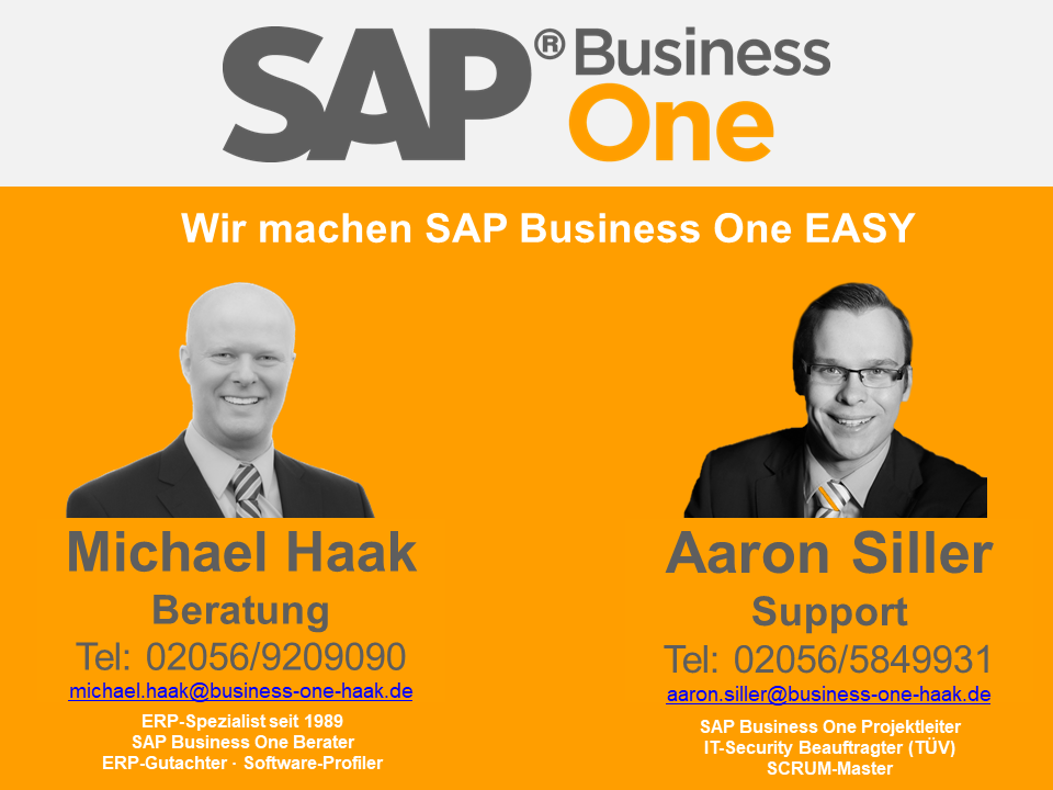 SAP Business One EASY - Ansprechpartner